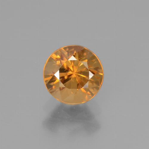 1.3ct Diamond-Cut Apricot Orange Zircon Gem (ID: 438599)
