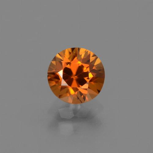 1.4ct Diamond-Cut Medium Orange Zircon Gem (ID: 438673)