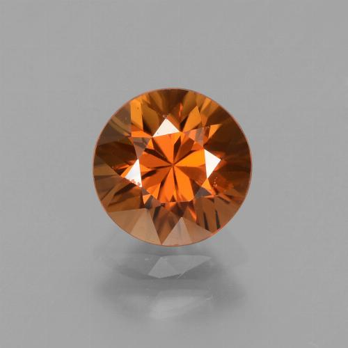 1.7ct Diamond-Cut Medium Orange Zircon Gem (ID: 438675)
