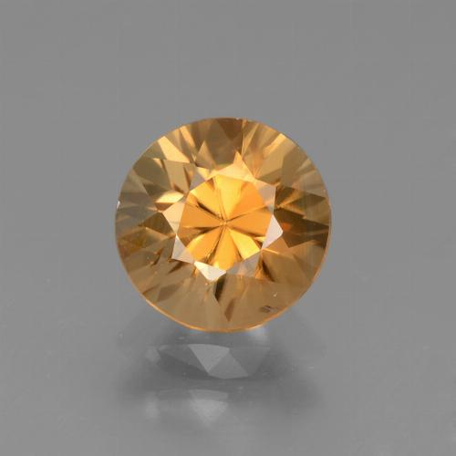 1.8ct Diamond-Cut Deep Orange Zircon Gem (ID: 438676)