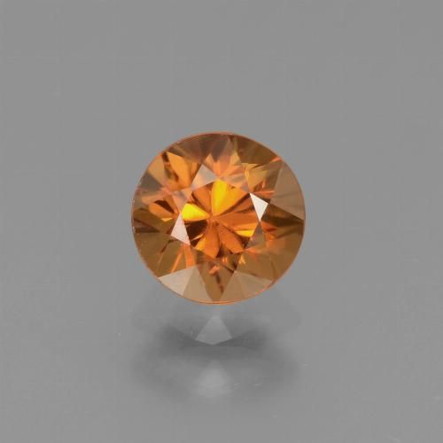 1.1ct Diamond-Cut Medium Orange Zircon Gem (ID: 438679)