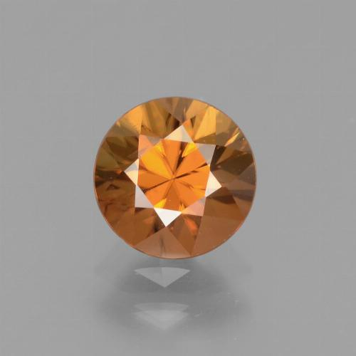 1.6ct Diamond-Cut Deep Orange Zircon Gem (ID: 438682)