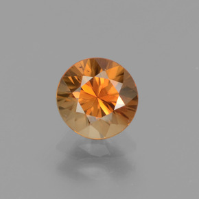 1.3ct Diamond-Cut Brownish Orange Zircon Gem (ID: 438683)