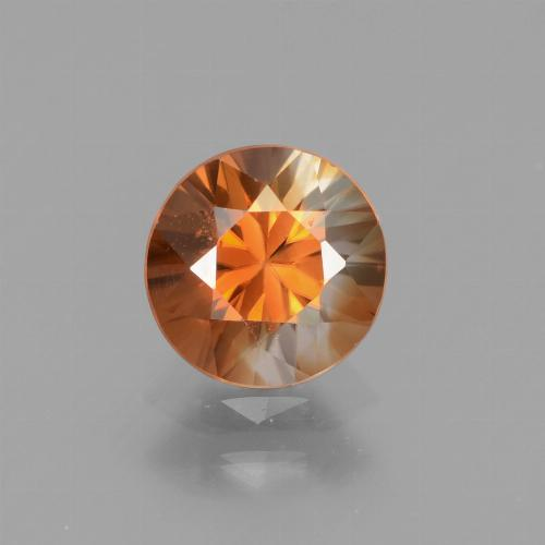 1.5ct Diamond-Cut Medium Orange Zircon Gem (ID: 438684)