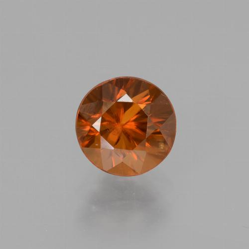 1.7ct Diamond-Cut Amber Orange Zircon Gem (ID: 438805)