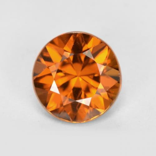 1.4ct Diamond-Cut Medium-Dark Orange Zircon Gem (ID: 438806)