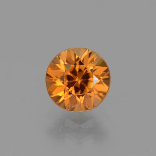1.4ct Diamond-Cut Deep Orange Zircon Gem (ID: 438808)