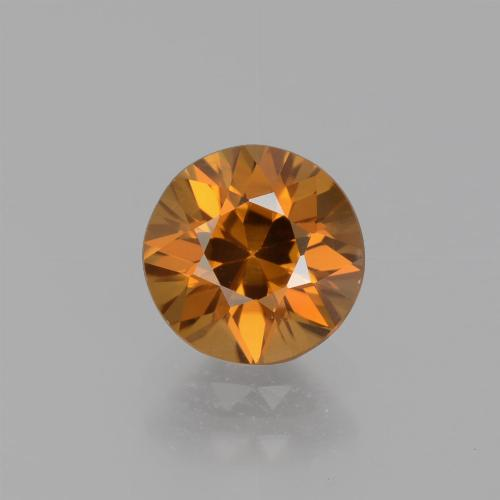 1.6ct Diamond-Cut Deep Orange Zircon Gem (ID: 438811)