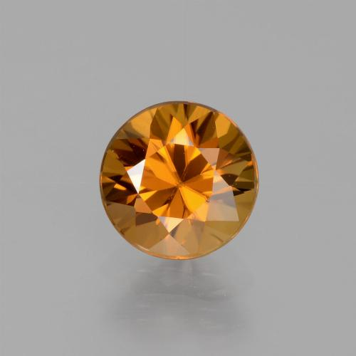 1.7ct Diamond-Cut Earthy Orange Zircon Gem (ID: 438812)