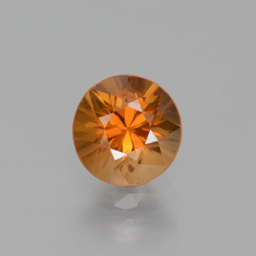 1.5ct Diamond-Cut Earthy Orange Zircon Gem (ID: 438813)