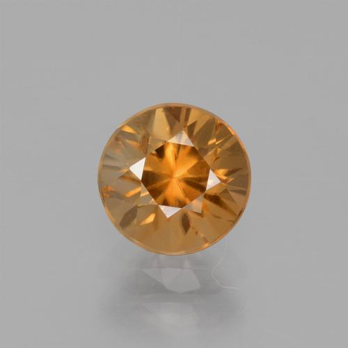 1.7ct Diamond-Cut Medium Orange Zircon Gem (ID: 438814)