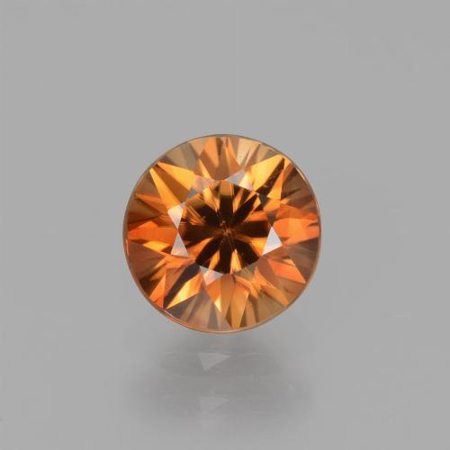 1.6ct Diamond-Cut Deep Orange Zircon Gem (ID: 438815)