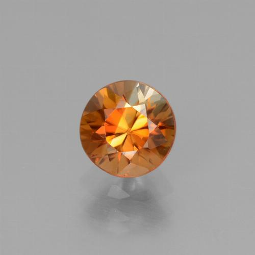 1.3ct Diamond-Cut Dark Orange Zircon Gem (ID: 438908)