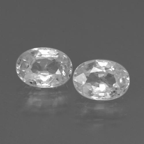 1.3ct Oval Facet White Zircon Gem (ID: 438925)
