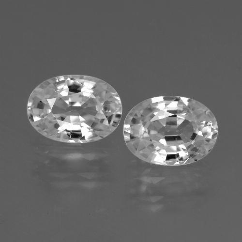 1.4ct Oval Facet White Zircon Gem (ID: 438927)