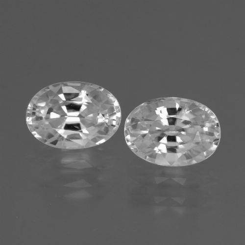 1.4ct Oval Facet White Zircon Gem (ID: 438928)