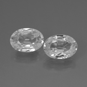 1ct Oval Facet White Zircon Gem (ID: 438929)