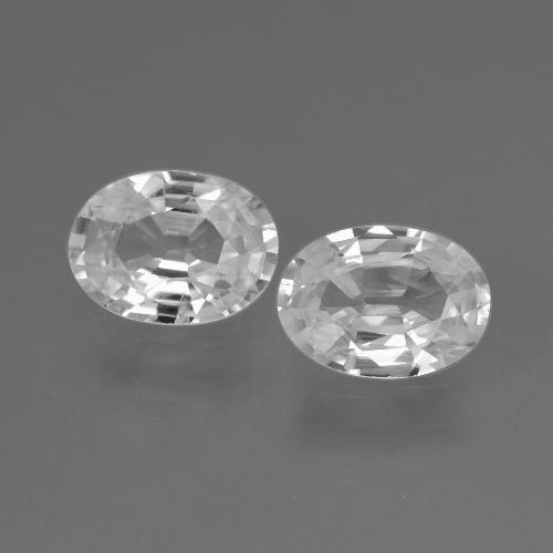 1ct Oval Facet White Zircon Gem (ID: 438933)