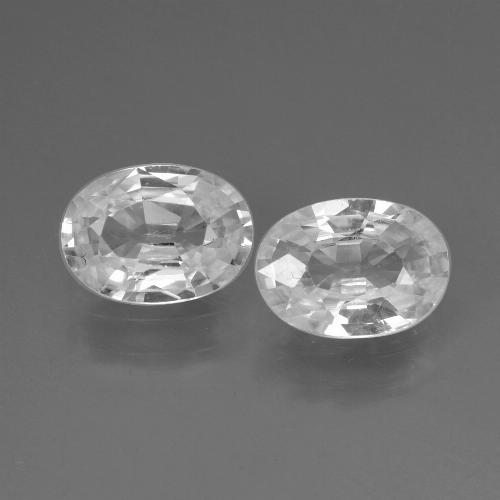 1.1ct Oval Facet White Zircon Gem (ID: 438936)