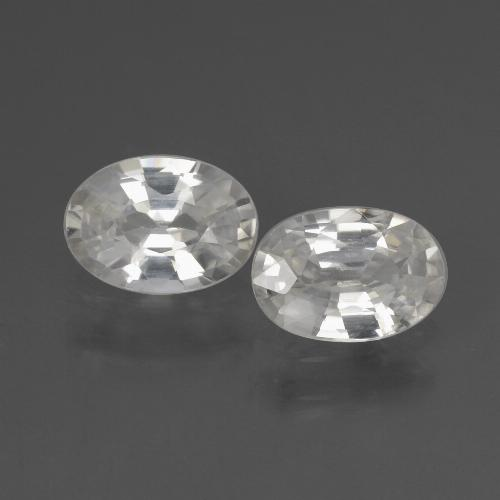 1.1ct Oval Facet White Zircon Gem (ID: 438961)