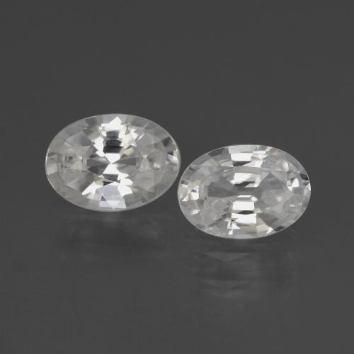 1ct Oval Facet White Zircon Gem (ID: 438962)