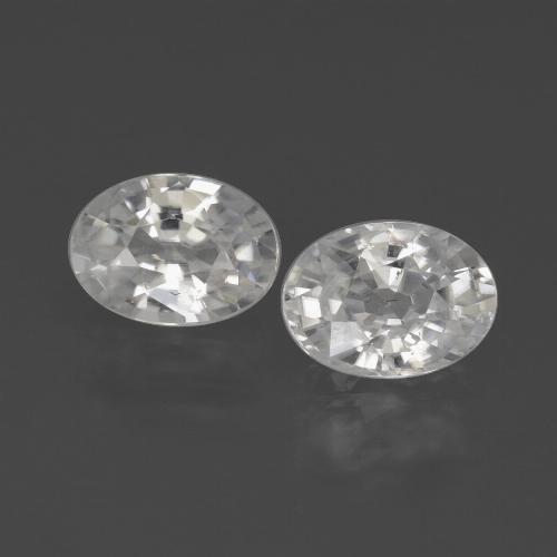 1.2ct Oval Facet White Zircon Gem (ID: 438964)