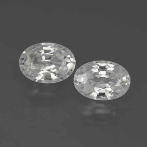 1.1ct Oval Facet White Zircon Gem (ID: 438966)