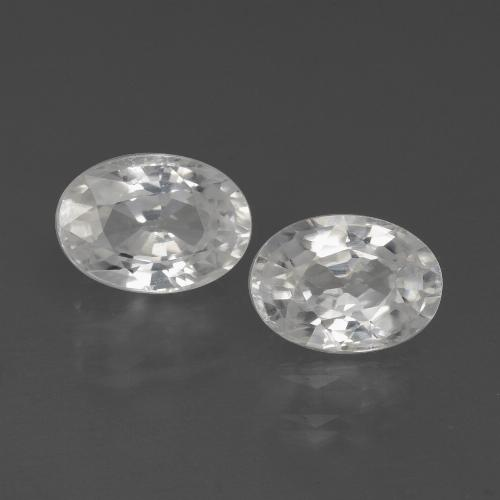 White Zircon Gem - 1.3ct Oval Facet (ID: 438968)