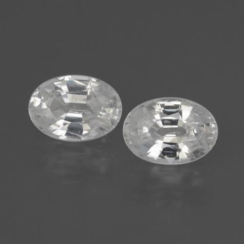 1.3ct Oval Facet White Zircon Gem (ID: 438969)