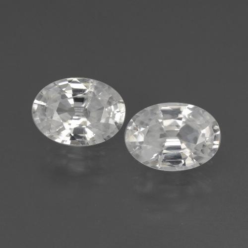 White Zircon Gem - 1.1ct Oval Facet (ID: 438970)