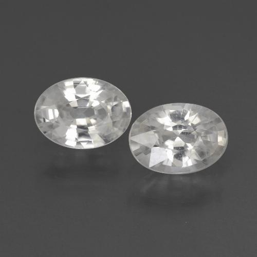 White Zircon Gem - 1.1ct Oval Facet (ID: 438971)