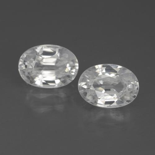 White Zircon Gem - 1.3ct Oval Facet (ID: 438985)