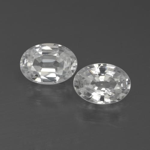 1.1ct Oval Facet White Zircon Gem (ID: 438992)