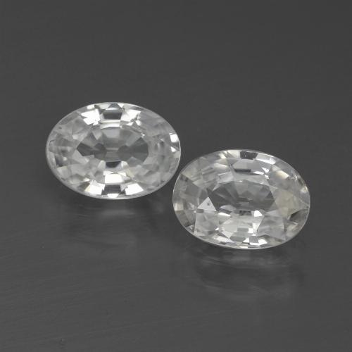 1.2ct Oval Facet White Zircon Gem (ID: 438995)