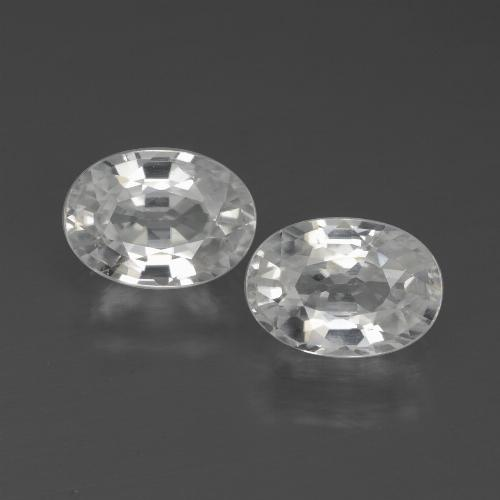 1.3ct Oval Facet White Zircon Gem (ID: 438996)