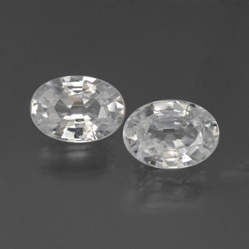 1.2ct Oval Facet White Zircon Gem (ID: 439033)