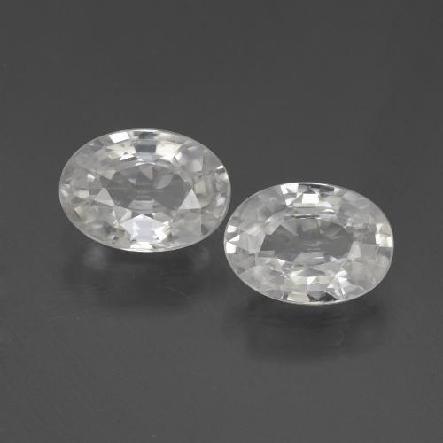 1.1ct Oval Facet White Zircon Gem (ID: 439035)
