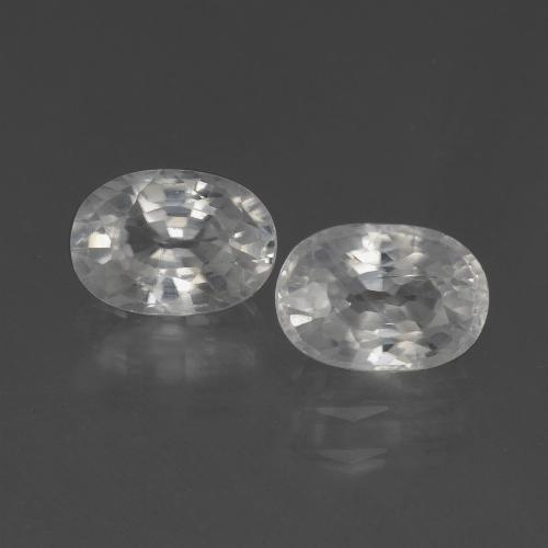 1.4ct Oval Facet White Zircon Gem (ID: 439036)