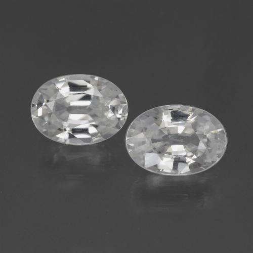 1.2ct Oval Facet White Zircon Gem (ID: 439038)