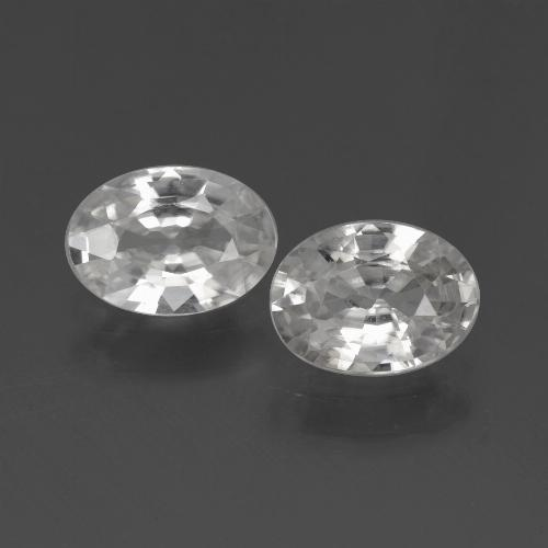 1ct Oval Facet White Zircon Gem (ID: 439039)
