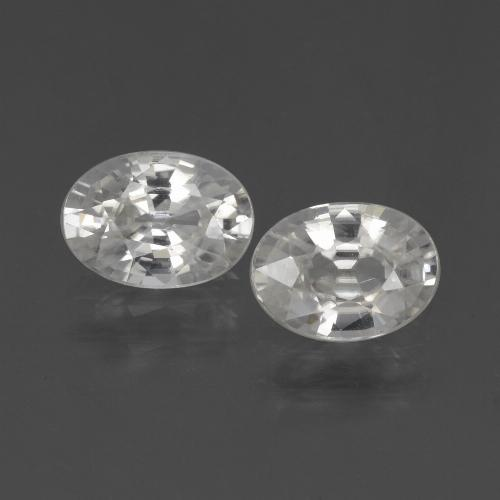 1.1ct Oval Facet White Zircon Gem (ID: 439040)