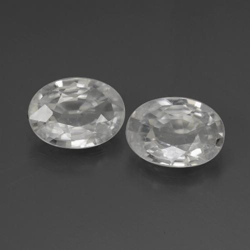 White Zircon Gem - 1.1ct Oval Facet (ID: 439044)