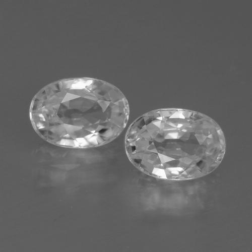 1.4ct Oval Facet White Zircon Gem (ID: 439083)