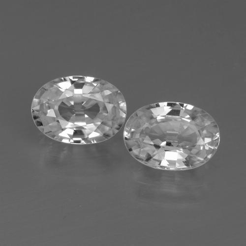 1.3ct Oval Facet White Zircon Gem (ID: 439085)
