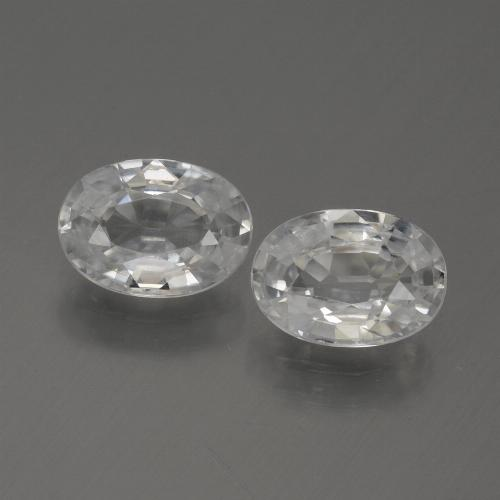 1.2ct Oval Facet White Zircon Gem (ID: 439092)