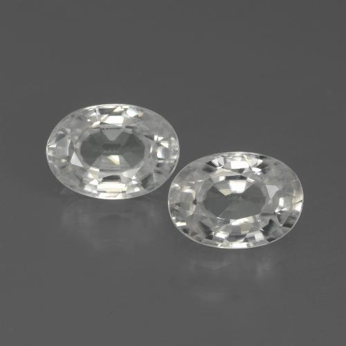 1.2ct Oval Facet White Zircon Gem (ID: 439105)