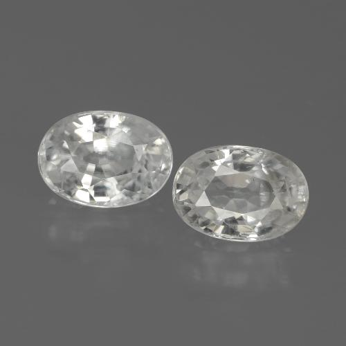 1.3ct Oval Facet White Zircon Gem (ID: 439107)