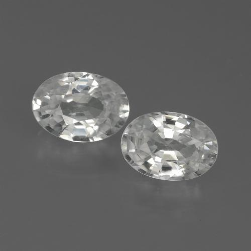 1.2ct Oval Facet White Zircon Gem (ID: 439108)