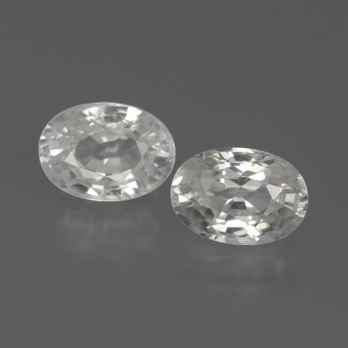 1.4ct Oval Facet White Zircon Gem (ID: 439109)