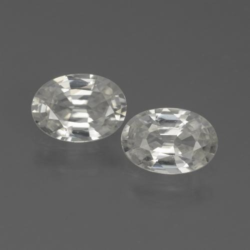 1.1ct Oval Facet White Zircon Gem (ID: 439111)